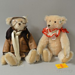 Two Steiff Amelia Mohair Teddy Bears