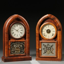 Two Eight-day Beehive Clocks