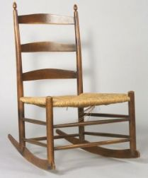 """Shaker Number """"4"""" Armless Production Chair with Rockers"""