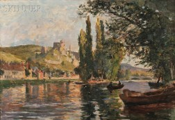 George Jules Ernest Binet (French, 1865-1949)      Boating on the River