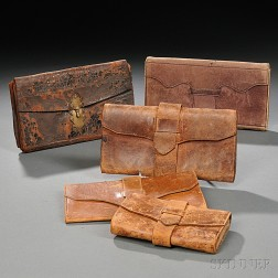 Five Leather Wallets