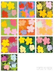 Andy Warhol (American, 1928-1987)      Flowers  /A Portfolio of Ten Works