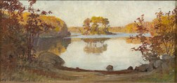 Anna Mary Richards Brewster (American, 1870-1952)      Autumn on the Lake