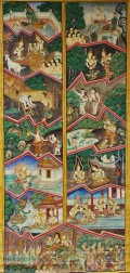 Thangka Depicting Jataka   Buddhist Tales