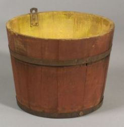 Red Painted Shaker Wooden Sap Bucket