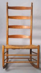 """Shaker Number """"7"""" Slat- back Armless Production Chair with Rockers"""