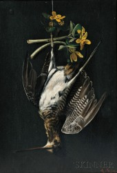 Alexander Pope (American, 1849-1924)      Hanging Snipe with Yellow Blossoms