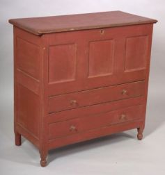 Painted Blanket Chest over Two Drawers