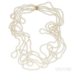 Freshwater Pearl Five-strand Necklace