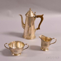 Assembled Three-piece Sterling Silver Coffee Set