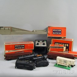 Group of Lionel Trains and Accessories