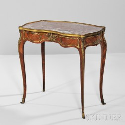 Louis XVI Marble-top Tulipwood Table a Ecrire