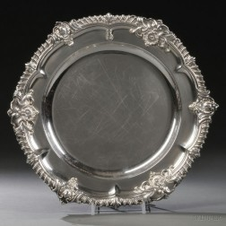 Three William IV Sterling Silver Plates