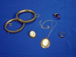 Group of Gold and Gold Plated Jewelry