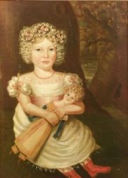 Oil Painting of a Girl with Doll