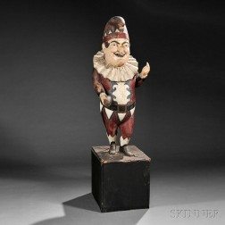 Polychrome Carved Punch Tobacconist Figure