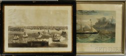Two Framed Maritime Engravings
