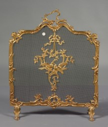 Louis XV Style Ormolu and Mesh Fire Screen