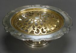 Tiffany & Co. Sterling Center Bowl with Gilt Brass Frog Insert
