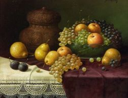 Leopold Kowalski (Russian/French, 1856-1931)    Still Life with Fruit