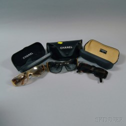 Three Pairs of Chanel Sunglasses