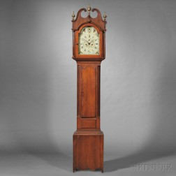 Federal Carved Cherry Tall Case Clock