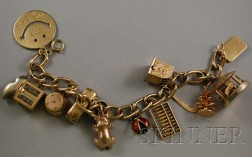 14kt Gold Charm Bracelet with Gold and Gold-filled Charms