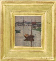 Manner of John Henry Twachtman (American, 1853-1902)      Harbor View, Possibly Gloucester