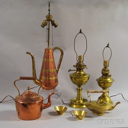 Seven Copper and Brass Items