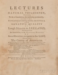 Barton, Richard (1706-1759)  Lectures in Natural Philosophy, Designed to be a Foundation, for Reasoning Pertinently, upon the Petrifica