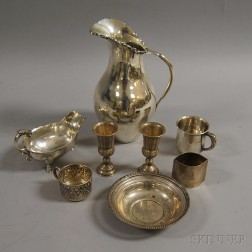 Eight Pieces of Assorted Sterling Silver Tableware