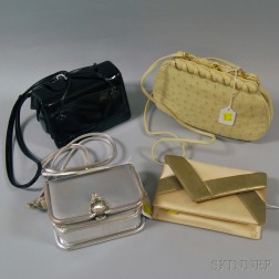 Four Judith Leiber Lady's Evening Bags