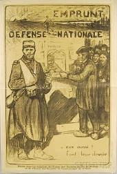 Jules Adler Emprunt - Defense Nationale   French WWI Lithograph Poster