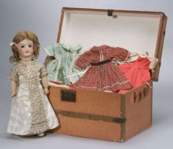 Unis France Bebe with Wardrobe and Trunk