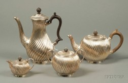 Four Piece English Electroplated Tea and Coffee Service
