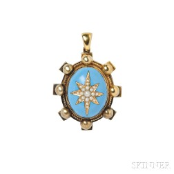 Gold, Enamel, and Pearl Locket