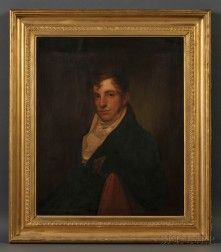 Attributed to Rembrandt Peale (Pennsylvania, 1778-1860) Portrait of Philadelphia Merchant Samuel Neave Lewis (Philadelphia, 1785-1841).