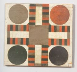 Polychrome Painted Double-Sided Wooden Game Board