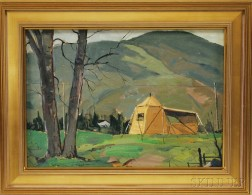 John F. Enser (American, 1898-1968)      Our Painting Camp, Cape Breton Island