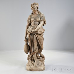 Continental Terra-cotta Figure of a Woman