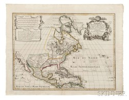 North America. Jeremiah Wolff (d. 1724) and Guillaume Delisle (1675-1726) America Septentrionalis Concinnata juxta Observationes Dnn. A