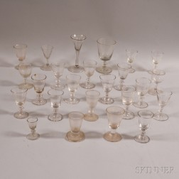 Twenty-four Early Colorless Wineglasses