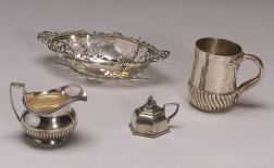Four Small Sterling Silver Table Articles