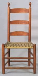 Shaker Red Stained Side Chair
