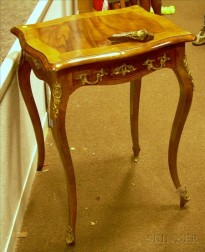 Louis XV Style Gilt-metal Mounted Inlaid Beechwood One-Drawer Stand.