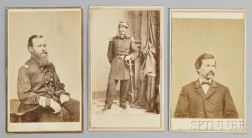 Three Carte-de-visite Photographs of Officers who Served on Board the USS Monitor