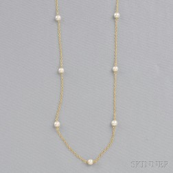 "18kt Gold ""Pearls by the Yard"" Necklace, Elsa Peretti, Tiffany & Co."