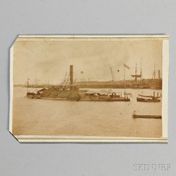 Rare Carte-de-visite of the C.S.S. Tennessee   After Capture