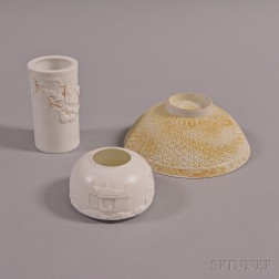 Three White Porcelain Items