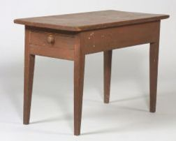 Shaker Red Painted Pine Table